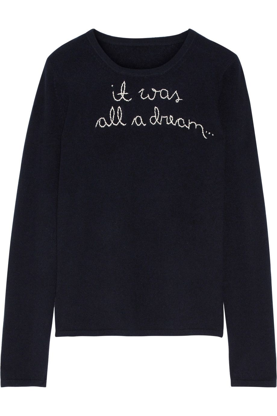 LINGUA FRANCA It Was All A Dream embroidered cashmere sweater ...