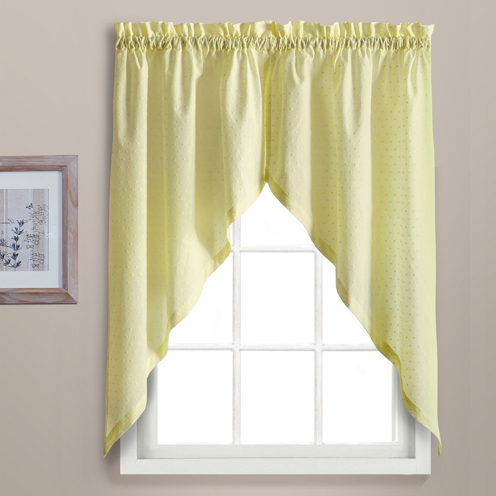 United Curtain Company Dorothy 54 W X 38 L Kitchen Swag Pair