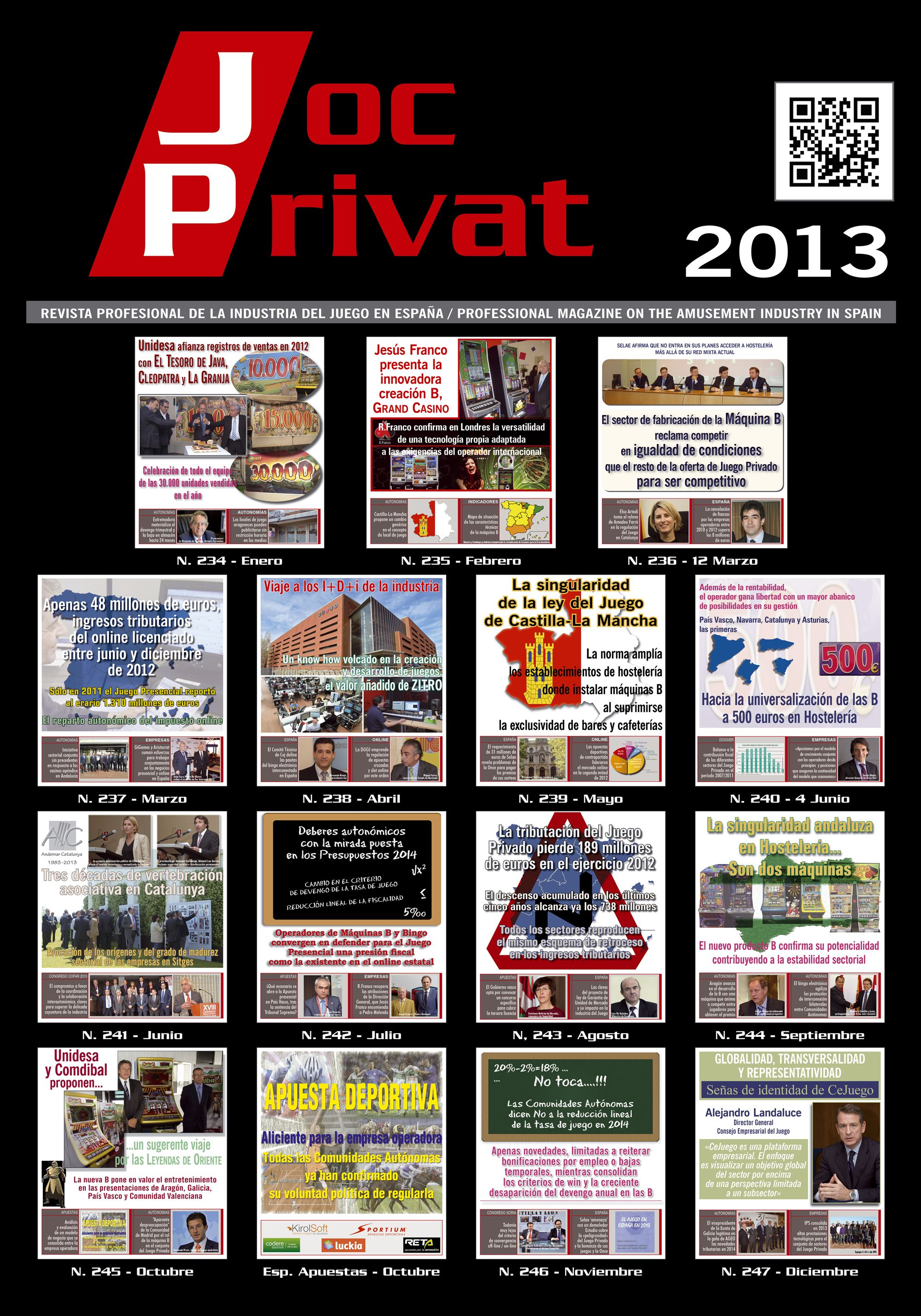 Revista Joc Privat. Portadas 2013