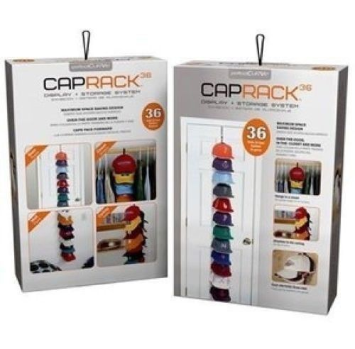 PerfectCurve CapRack 36 Baseball Cap Baseball Hat Holder Rack Organizer  Storage