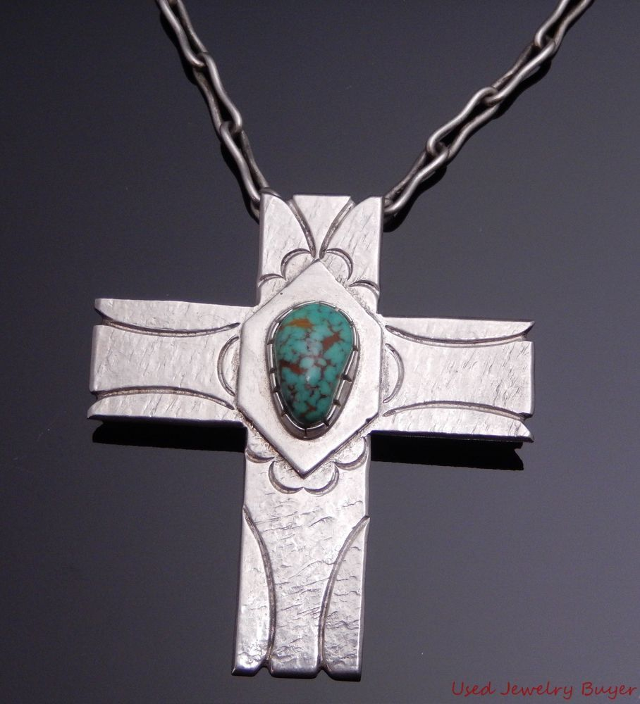 Buddy lee navajo sterling silver turquoise cross pendant chain buddy lee navajo sterling silver turquoise cross pendant chain necklace 23 buddylee buycottarizona Images