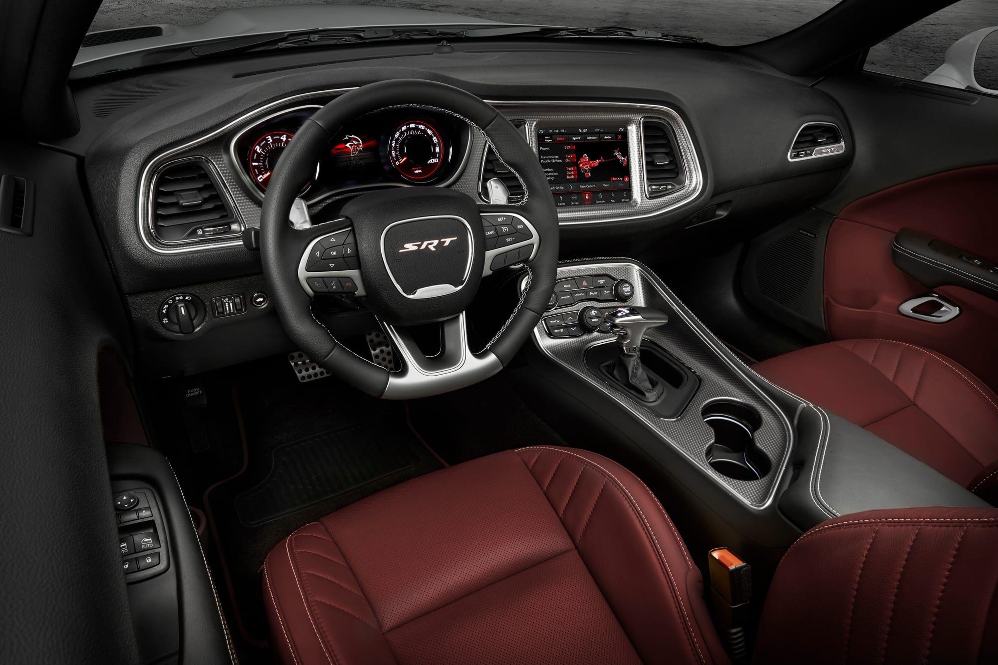 Dodge Challenger Interior >> Dodge Unveils The 203 Mph Hellcat Redeye Dodge Challenger