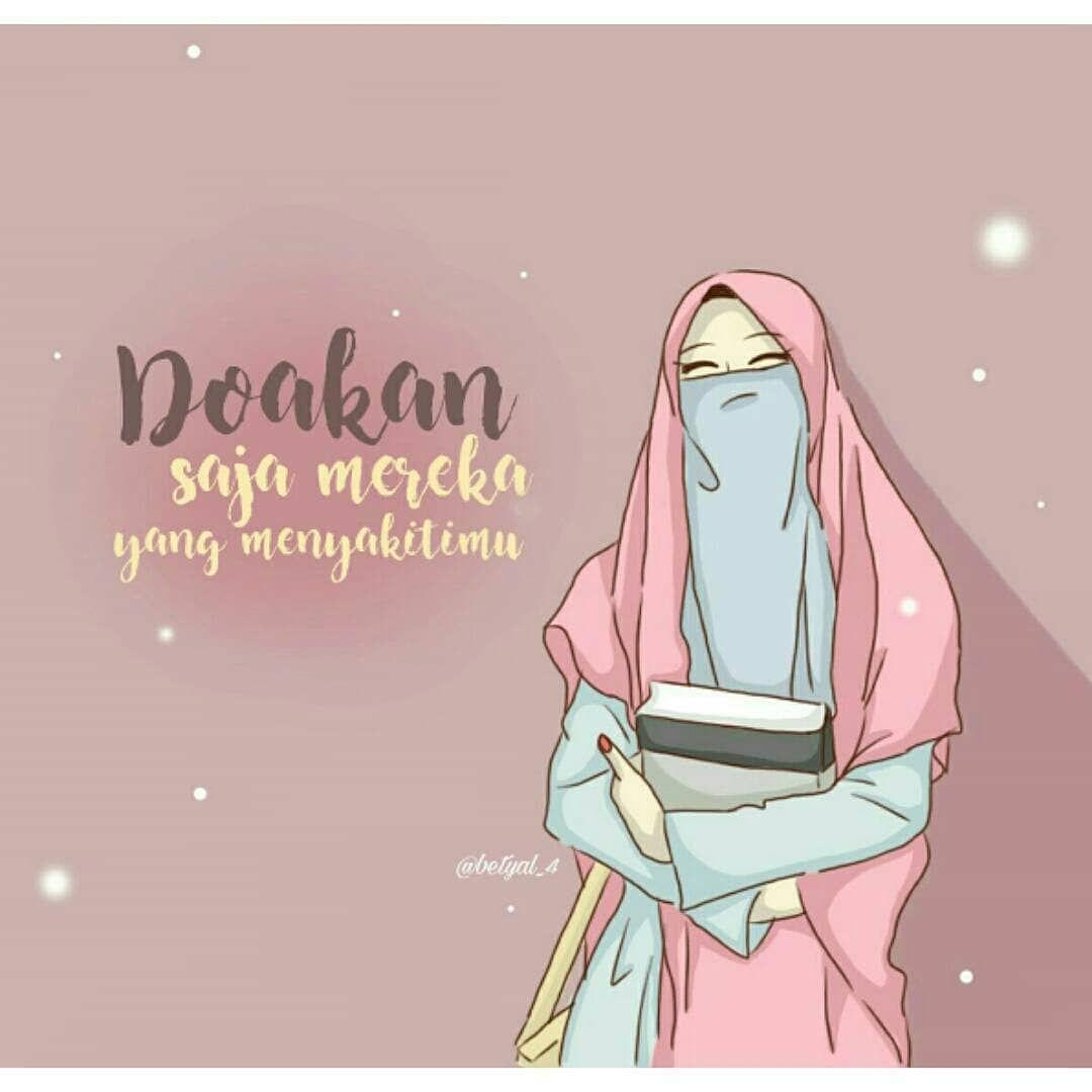 Gambar Wanita Berhijab Syar I Kartun Dengan Gambar