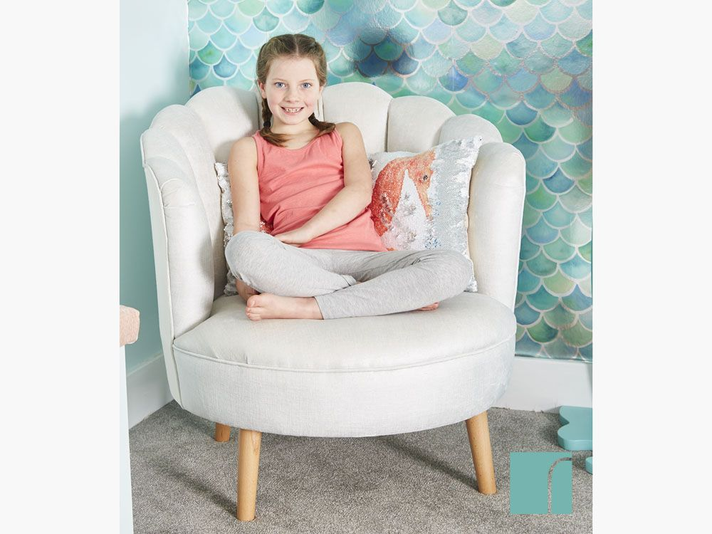 750 At Reroom Co Uk Shell Shaped Chair Perfect For A Mermaid Or Even A Grown Up Room Mermaid Reas Room Mermaid Bedding Childrens Bedroom Furniture Ch