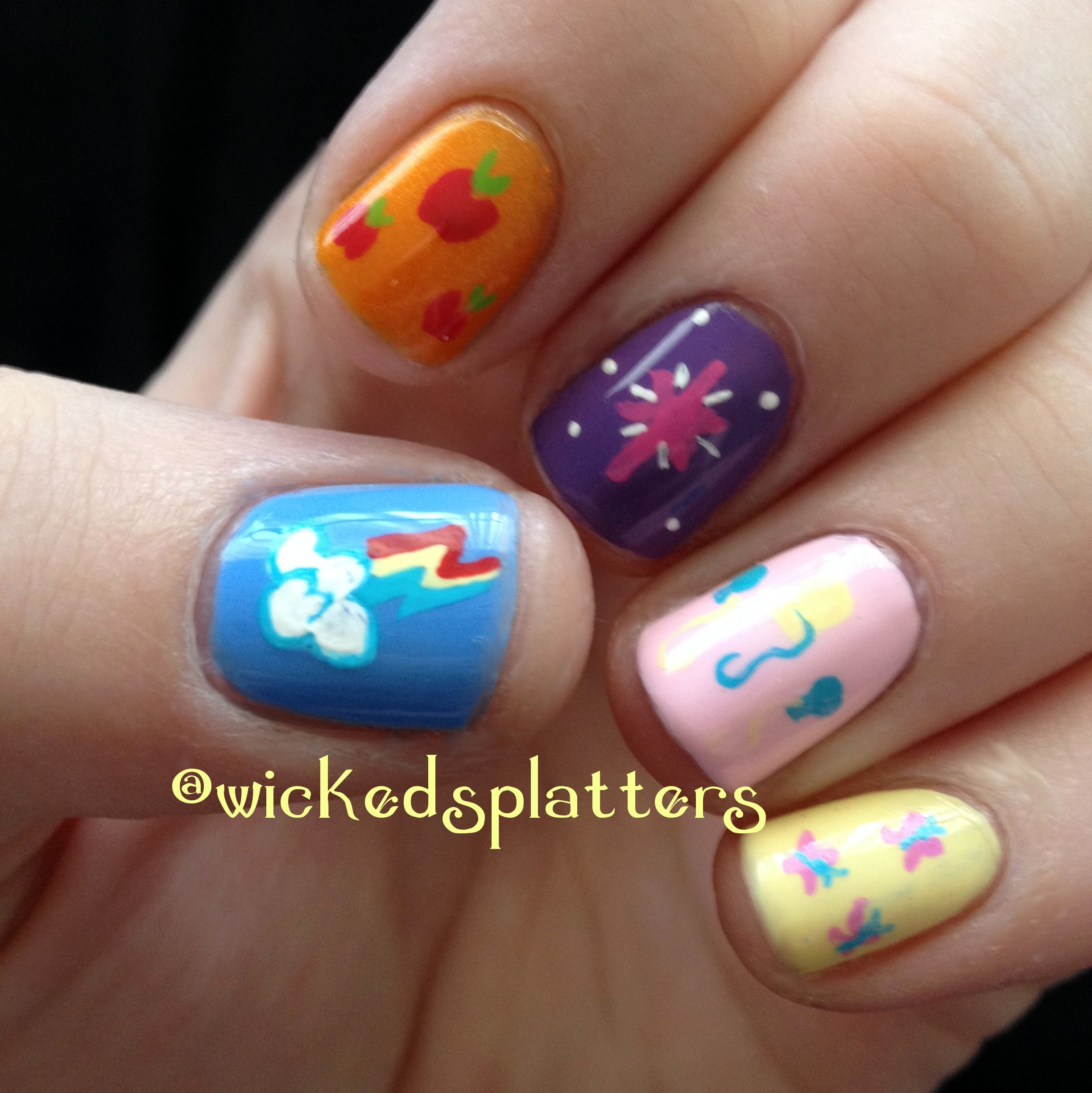 Friendship Is Magic My Little Pony Nails
