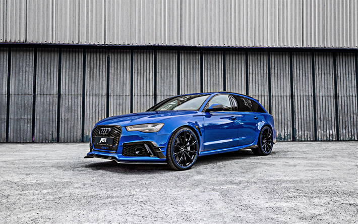 Download Wallpapers Audi Rs6 2018 Rs6 Abt Nogaro Edition Blue Wagon Tuning Rs6 Black Wheels Exterior German Cars Audi Besthqwallpapers Com Audi Rs6 Audi German Cars