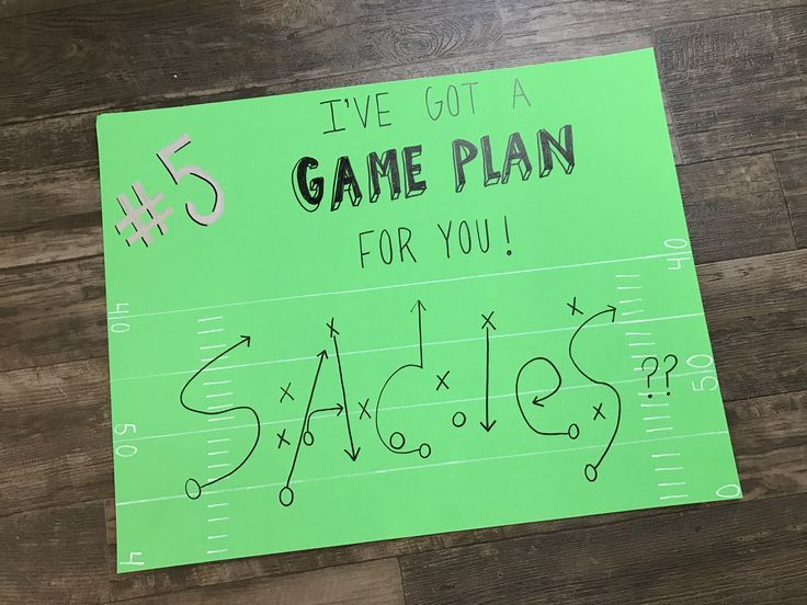Süße Sadies Fußball Vorschlag Idee! #creatingcourtney #ohs #sadies #football #pr #homecomingproposalideas