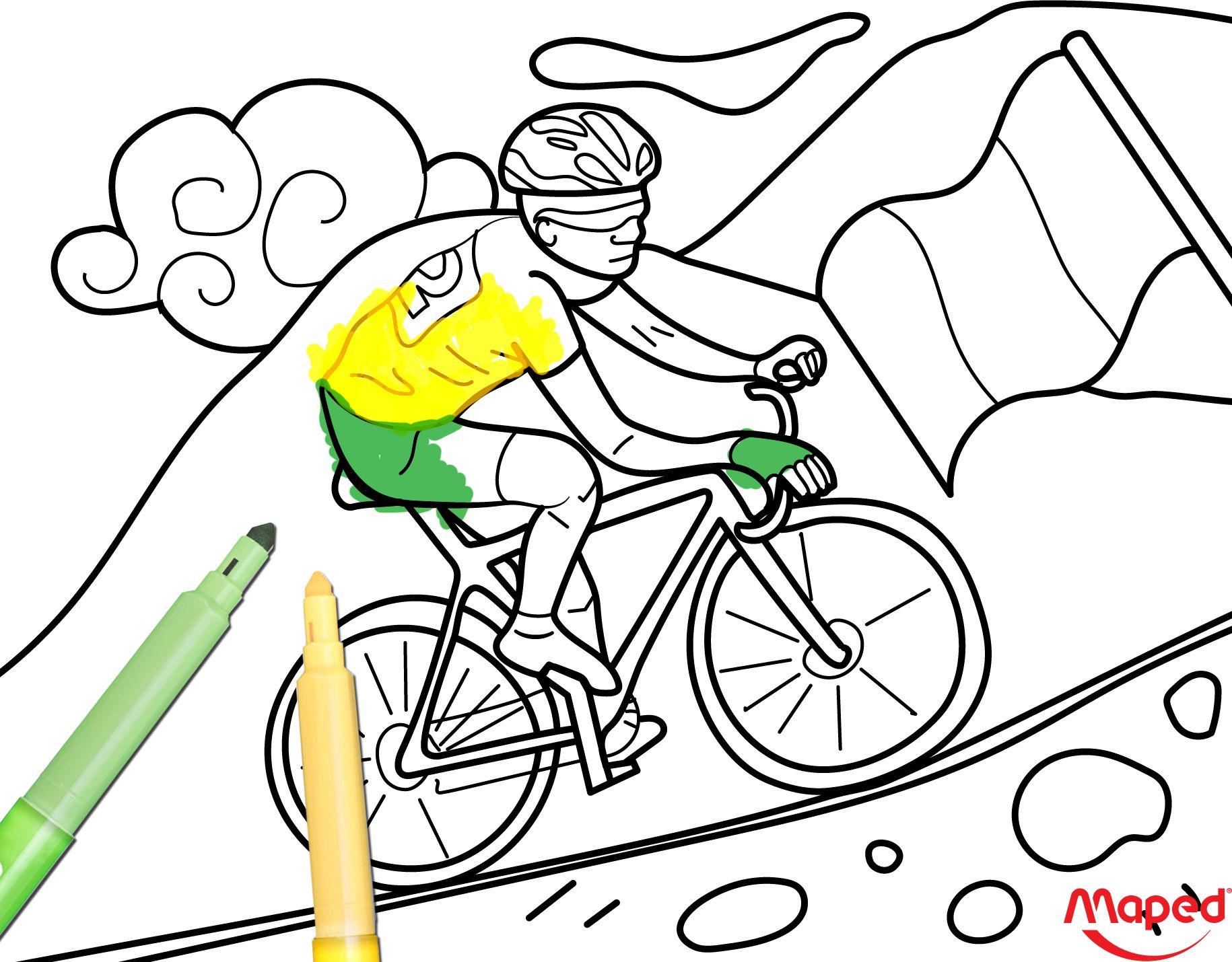 Tour De France Maped Mapedcreatives Coloriage Creativite