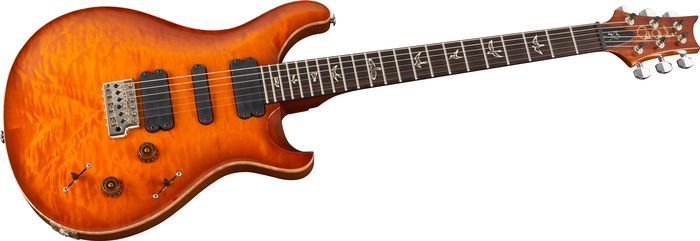 Click Image Above To Purchase: Prs 513 With Quilted Top Electric Guitar Smoked Orange