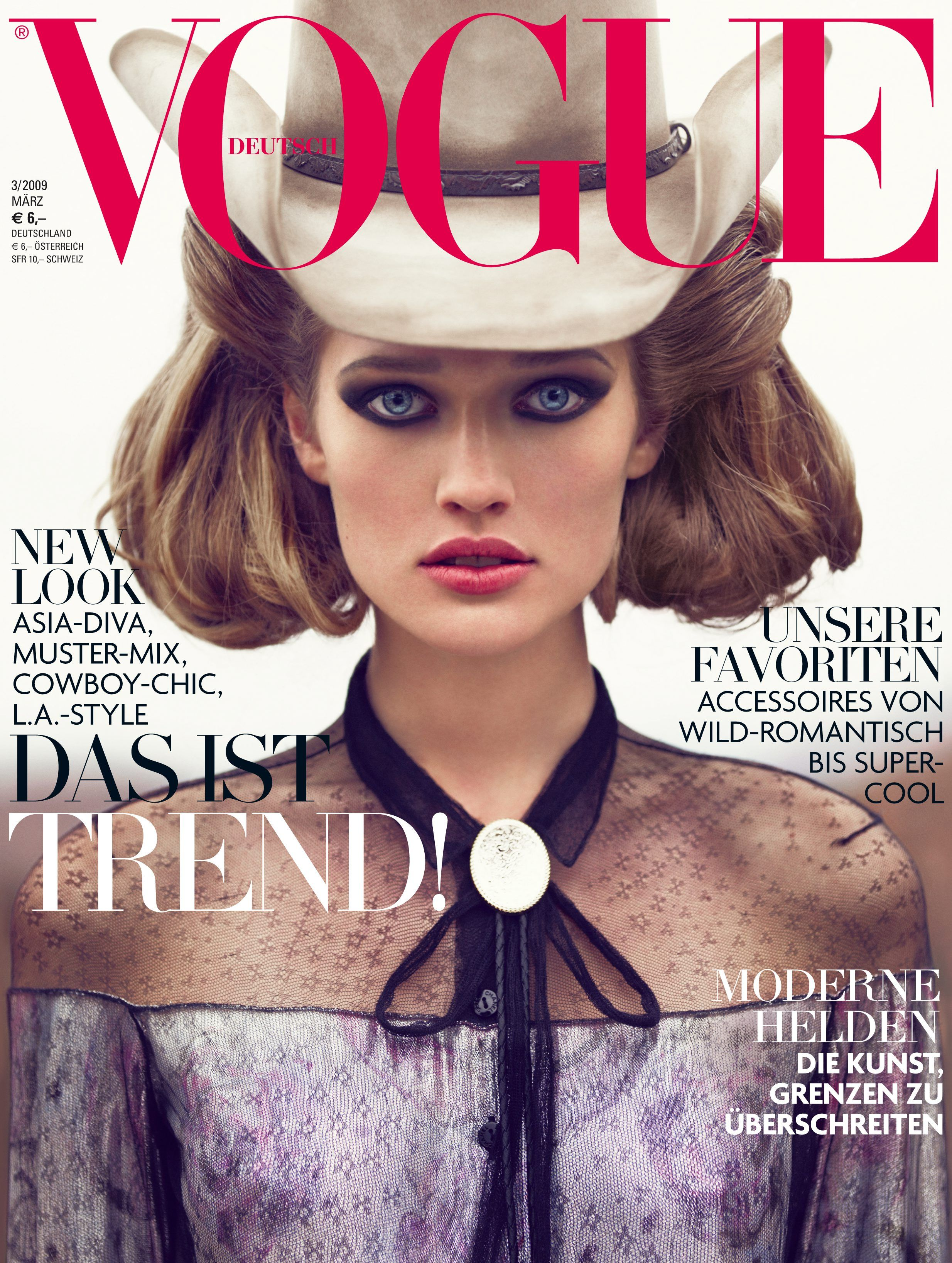 Toni Garrn Throughout the Years in Vogue   Vogue Deutsch Best Covers ... 5ea6455eb5