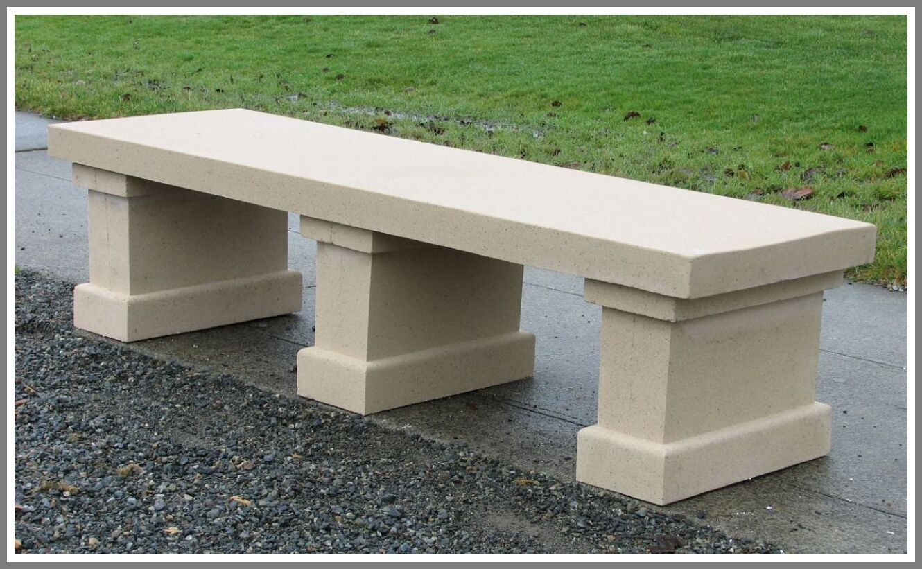 70 Reference Of Concrete Park Bench For Sale In 2020 Stone Garden Bench Concrete Garden Bench Concrete Garden