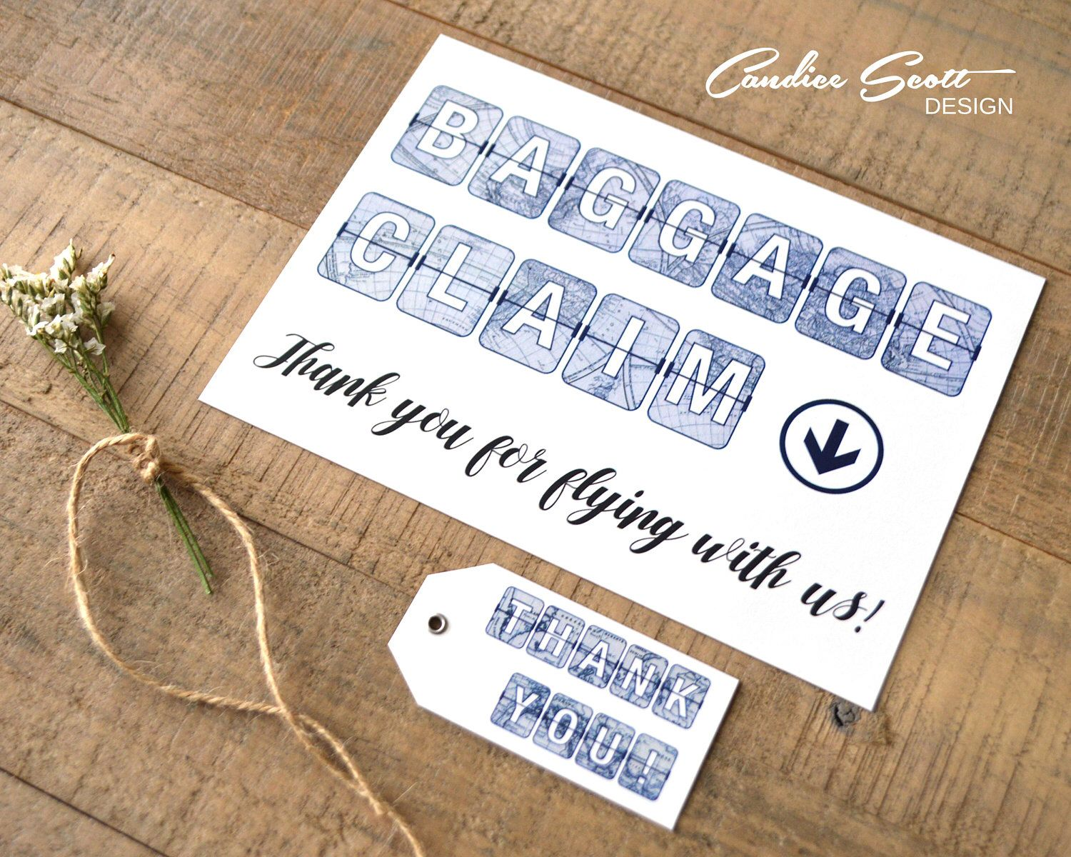 Baggage Claim Sign for Travel Themed Bridal Shower, Do It Yourself ...