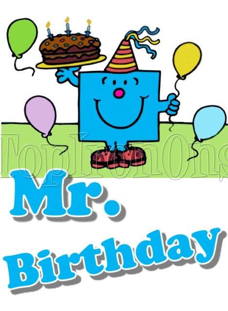 Mr Men Birthday And Little Miss T Shirt Iron On Transfer 6 Mr Men Birthday And Little Miss T Shirt Iron On Tran Mr Men Little Miss Mr Men Party Man Birthday