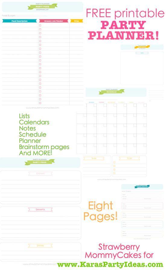 free printable party planner via kara s party ideas karaspartyidesa