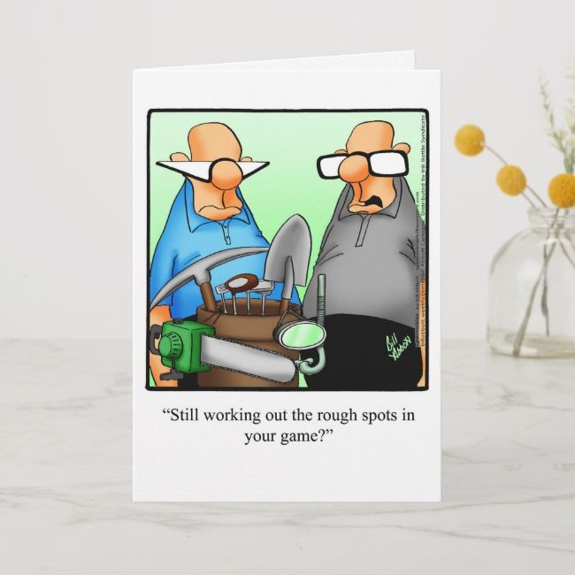 Golf Humor Birthday Greeting Card | Zazzle.com #golfhumor