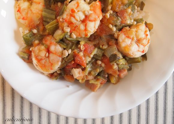 Photo of Okra and Tomatoes Recipe with Jumbo Shrimp and Tasso