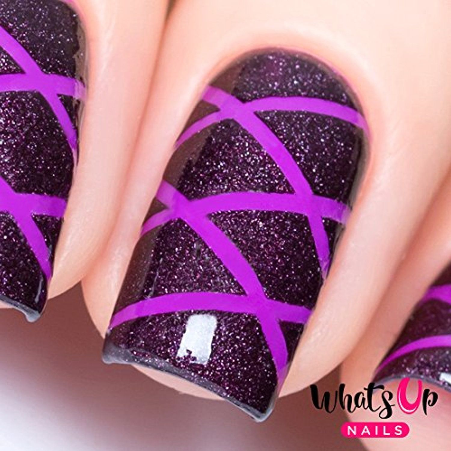 Whats Up Nails - Skinny Straight Tape Nail Stencils Stickers Vinyls ...