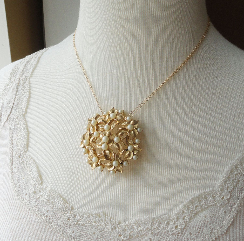Pretty vintage broach necklace from http://www.etsy.com/shop/BriguysGirls?ref=seller_info