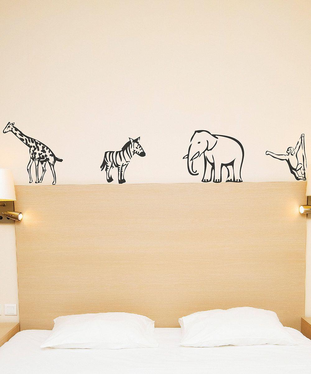Black Zoo Animal Wall Decal Set Room Murals Pinterest Animal - Zoo animal wall decals