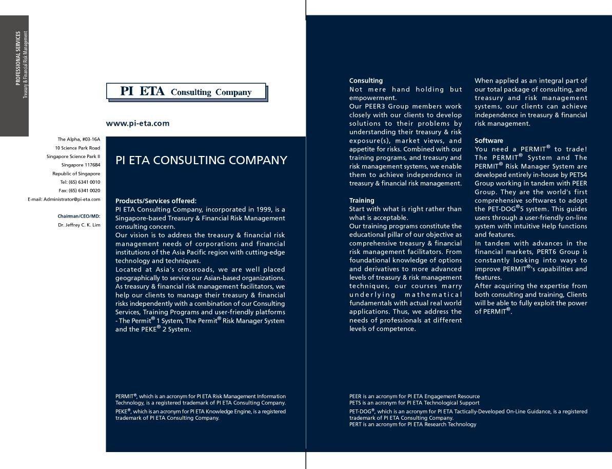 Banking Finance Treasury Risk Management Seminar Training Programs By Pi Eta Consulting Compan Risk Management Consulting Companies Financial Institutions