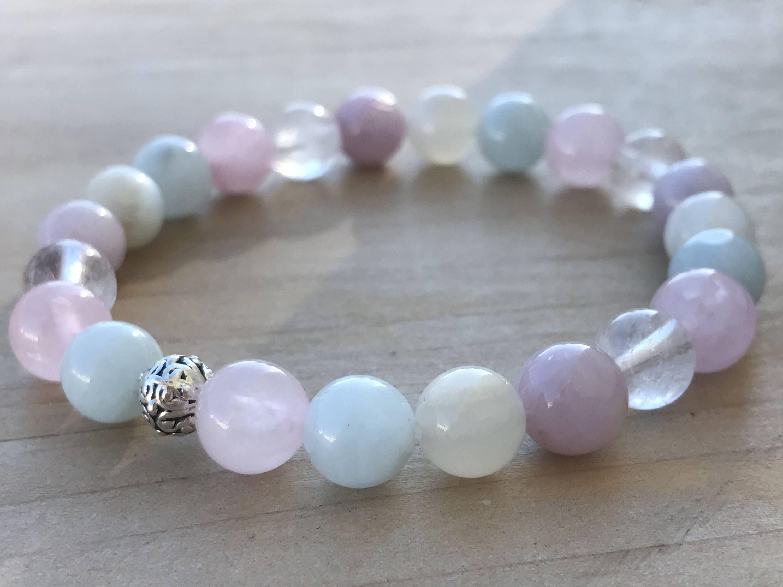 Love Bracelet - Healing Bracelet Energy Bracelet Rose Quartz Bracelet Love Stone Bracelet