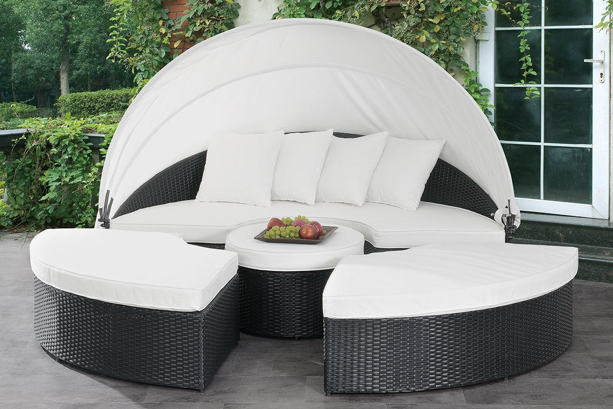 emily outdoor patio canopy lounge bed