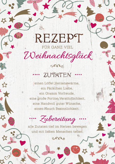 Weihnachtskarten Per Whatsapp.Artikel Grafik Werkstatt Bielefeld Rezept Für Weihnachten Schöne