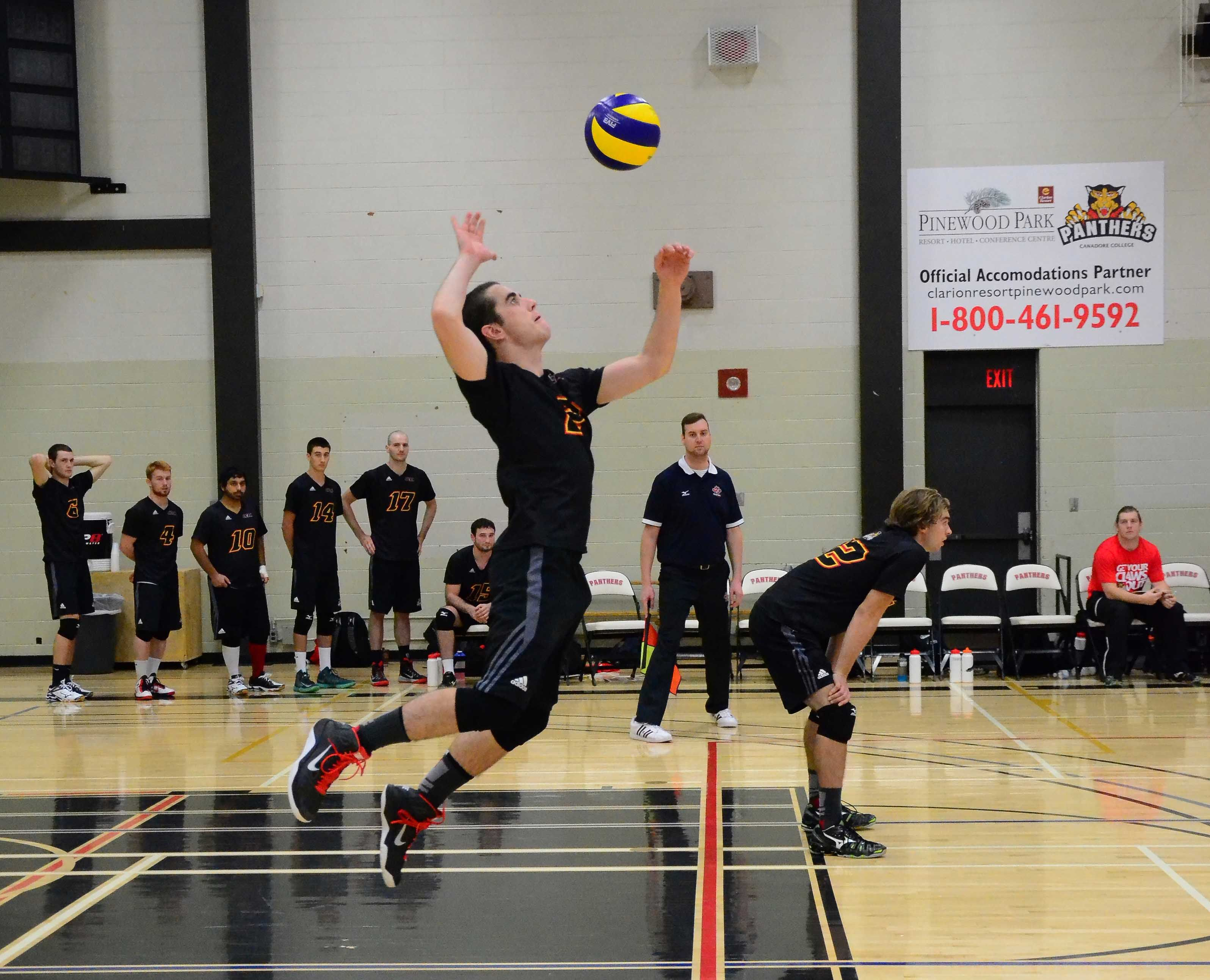 Pin By Canadore Panthers On Varsity Home Opener Men S Volleyball Volleyball Basketball Court Basketball