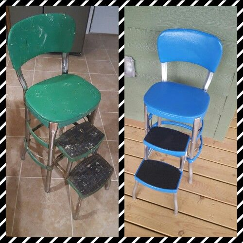 Amazing Before And After Cosco Step Stool Restoration In 2019 Machost Co Dining Chair Design Ideas Machostcouk