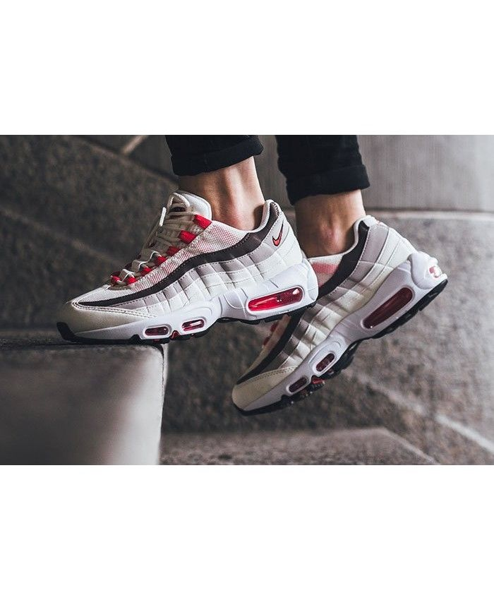 factory price b096c 206ce Nike Air Max 95 Og Sail Phantom Light Iron Ore Ember Glow Womens Shoes