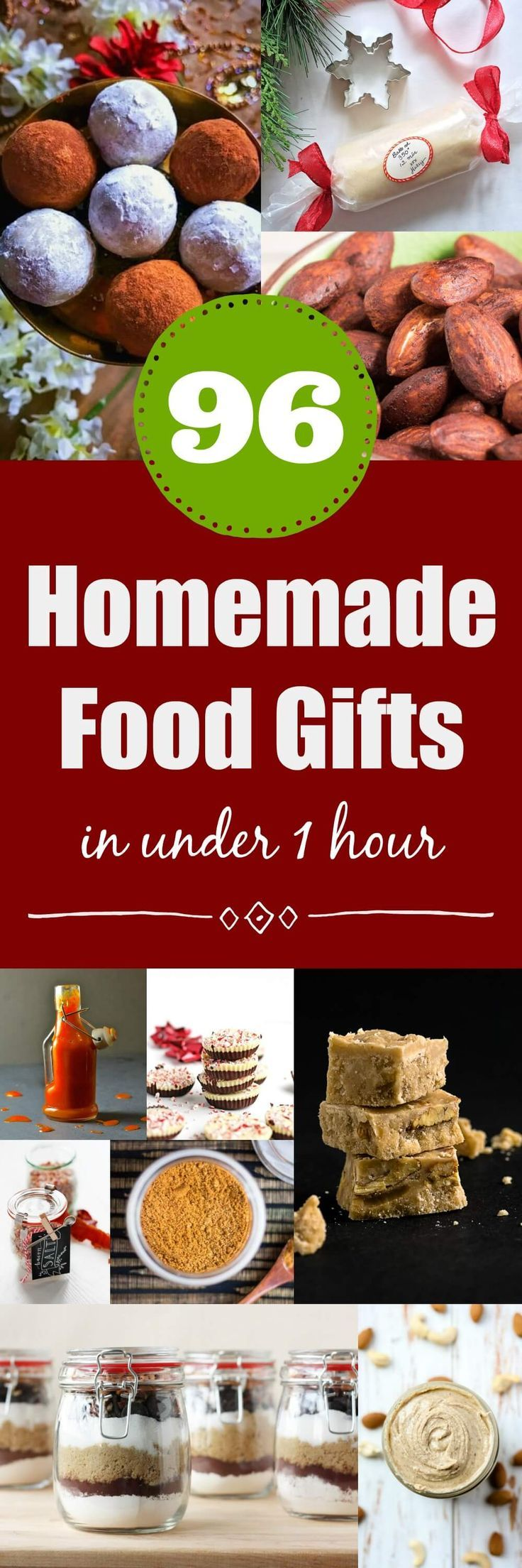 96 Homemade Christmas Food Gifts In Under One Hour   Pinterest ...