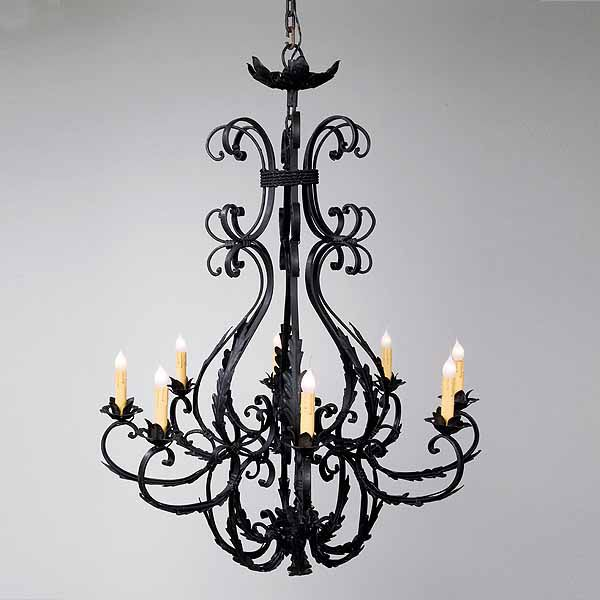 Wrought iron chandeliers and other lighting options and inspirations c scroll chandelier mozeypictures Images