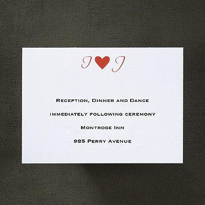 Winning Love Reception Card weddingneeds.carlsoncraft.com