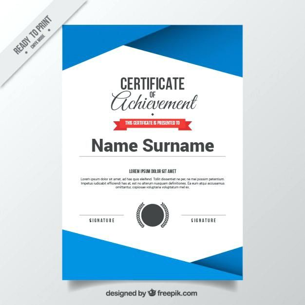 Abstract Certificate Template Free Vector Download Sertifikat Word