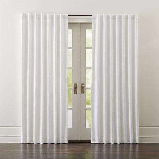 Wallace White Blackout Curtains Crate And Barrel White Blackout Curtains Light Blocking Curtains White Curtains
