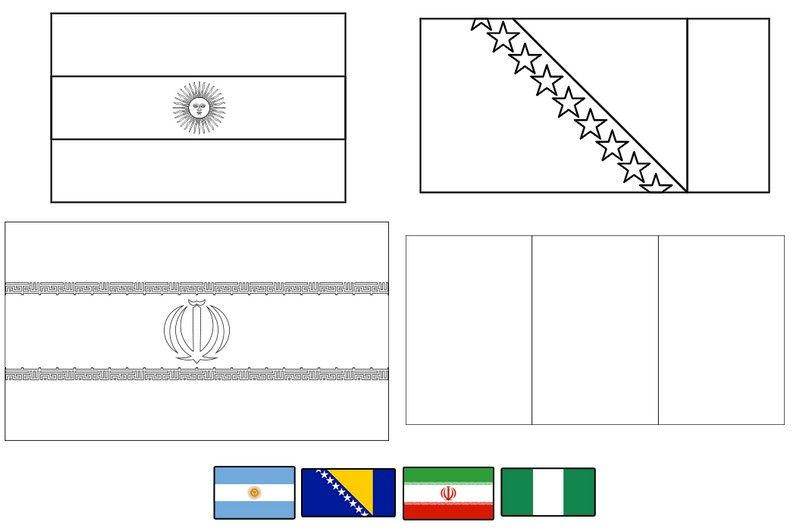 Botswana Flag Colouring Page Botswana Flag Flag Coloring Pages
