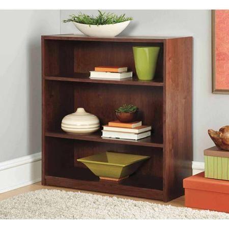 Mainstays 3 Shelf Wood Bookcase Multiple Colors Walmart Com 3 Shelf Bookcase Wood Bookcase