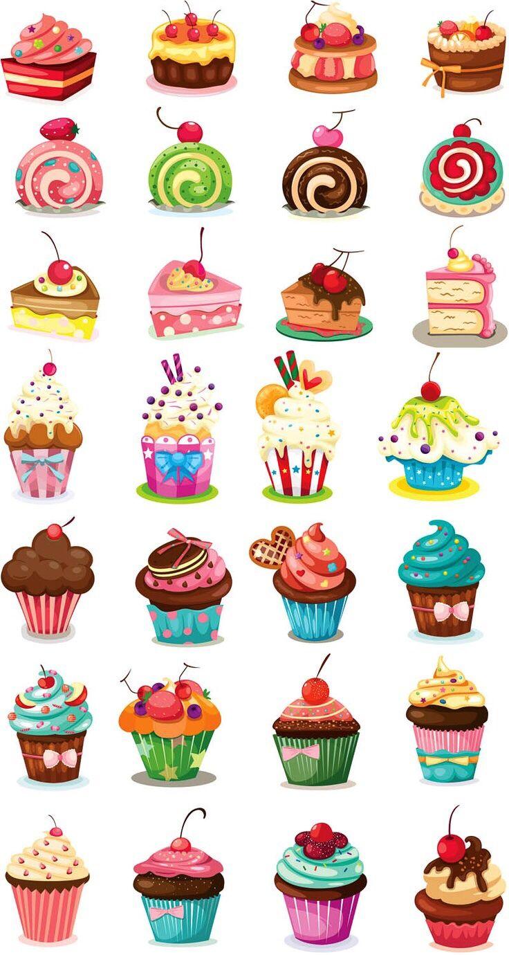 mini mini cupcakeler :) | 紙モノ | pinterest | 壁紙 イラスト