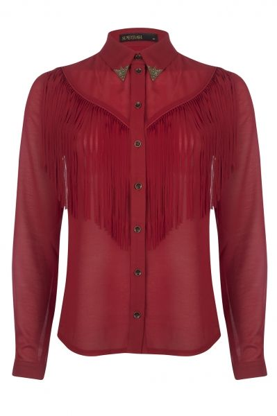 Bestern Blouse Garnet Red