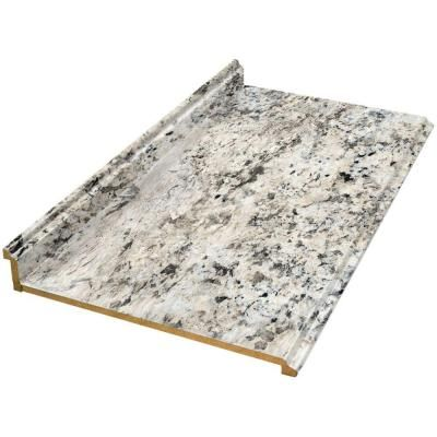 Valencia 8 Ftlaminate Countertop In Typhoon Ice 495252V8 At The Simple Home Depot Kitchen Countertops Review