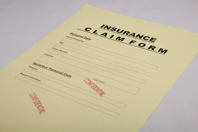 Insurance claim form detailing the difference between