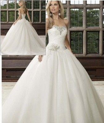 2012 New White / ivory Wedding Dress Bride Gown stock Size 6-8-10-12-14-16