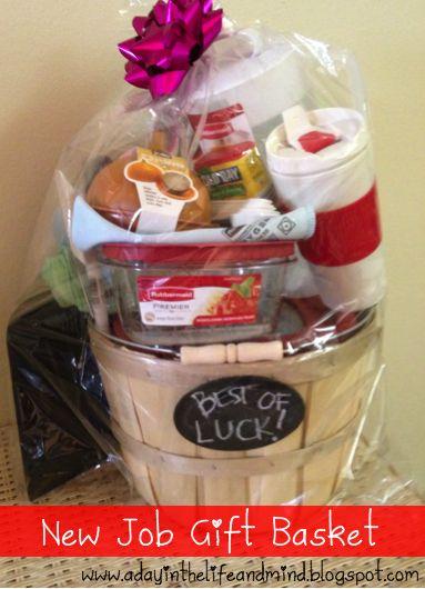 Best of Luck - New Job Gift Basket | Dana wedding | Pinterest