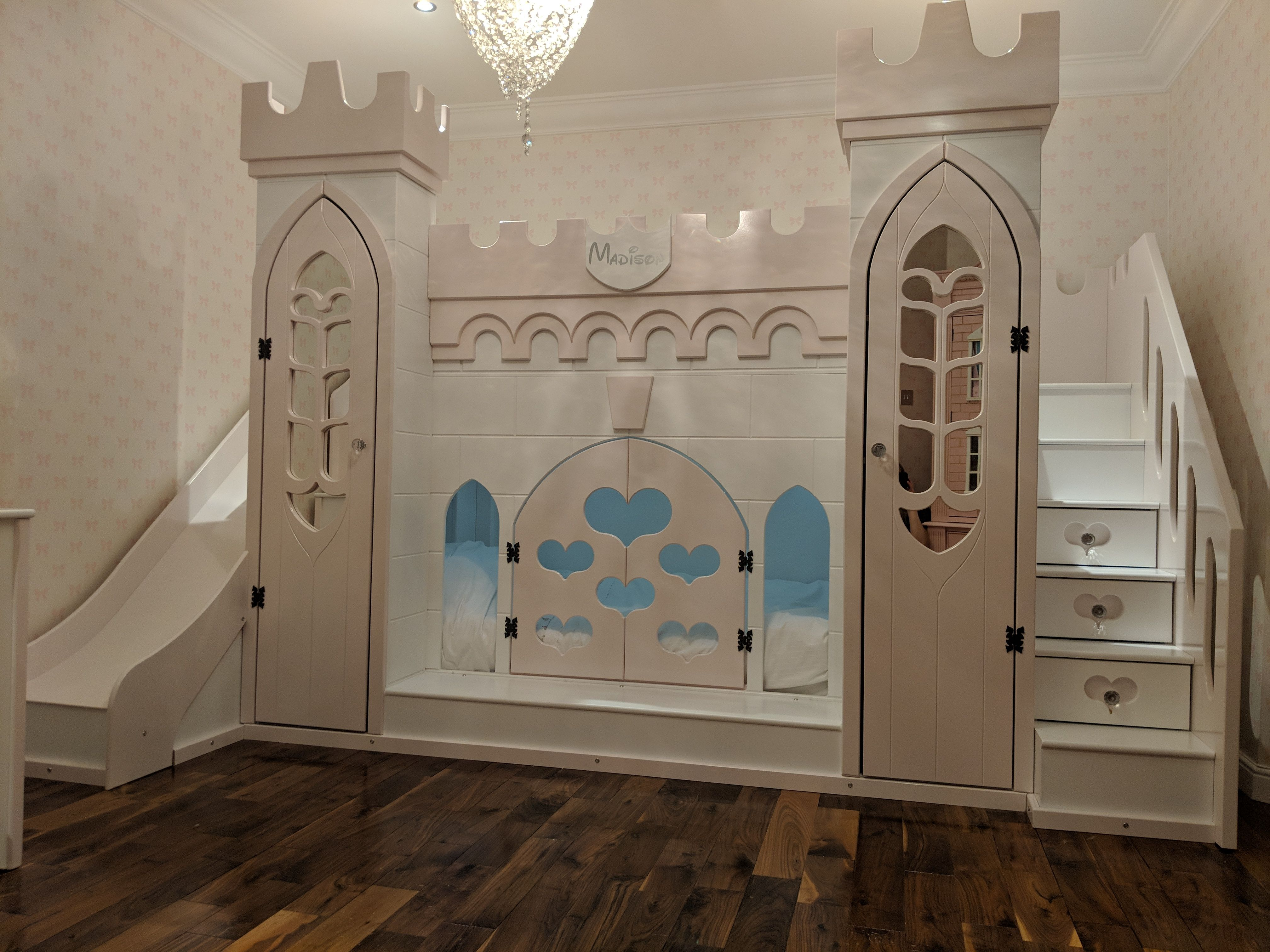 stunning girls bedroom princess castle bed. Bed comes with