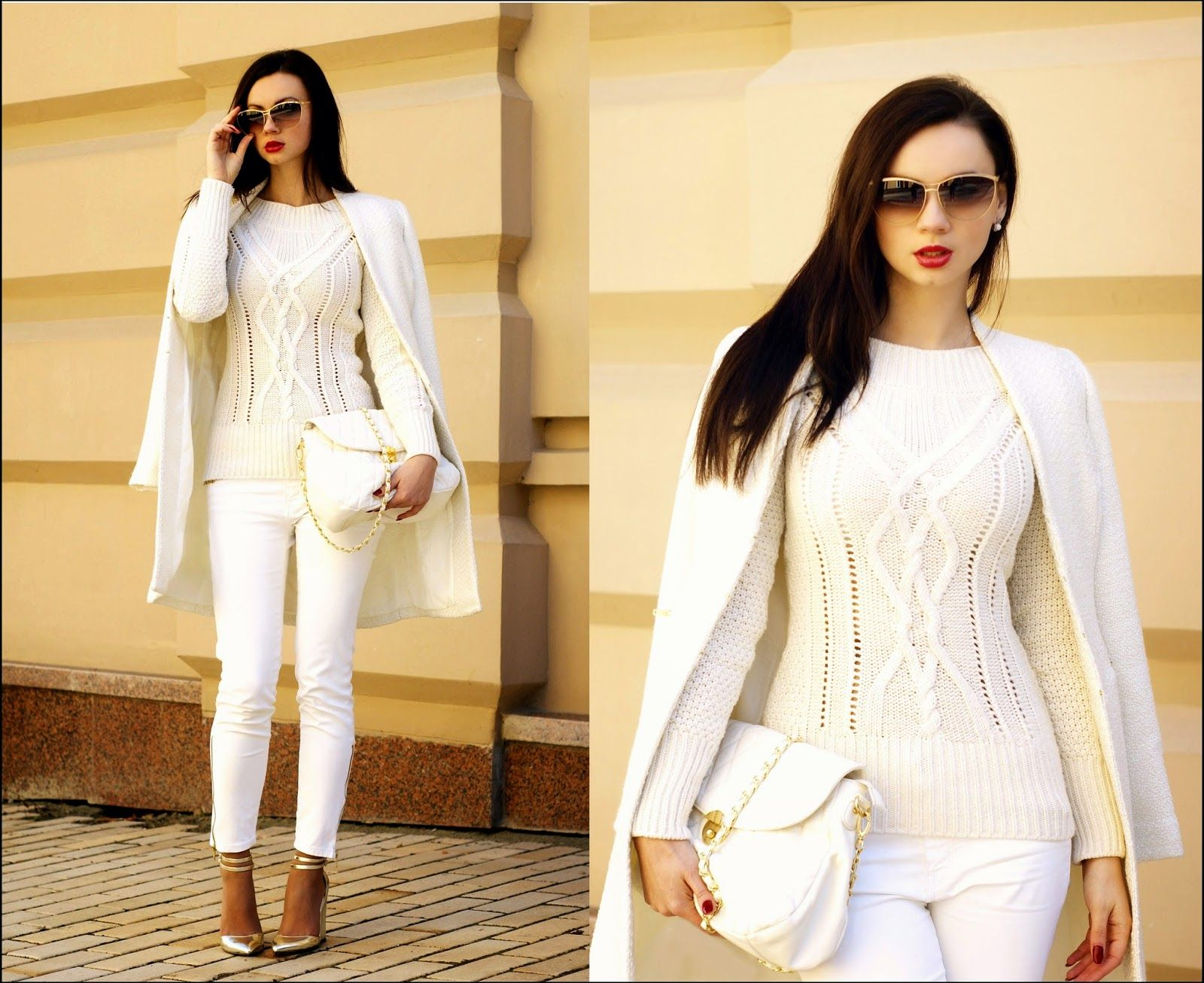 Dress Kot Ivory Gold Classics Anna Mour Fashion Blogger