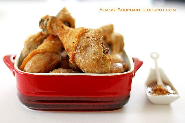 Almost Bourdain: Momofuku Fried Chicken with Octo Vinaigrette