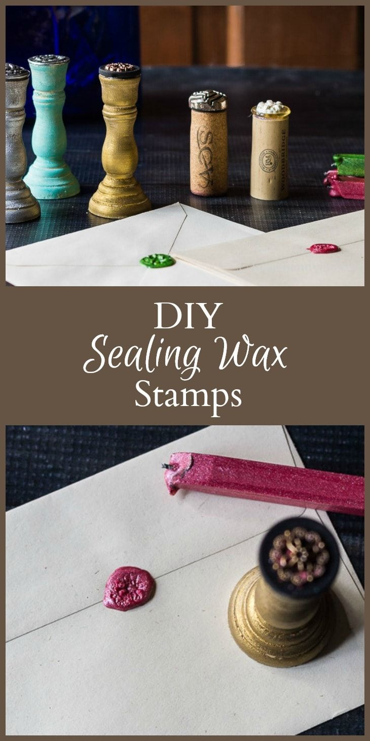 Diy wax seal stamps made with heirloom buttons diy wax
