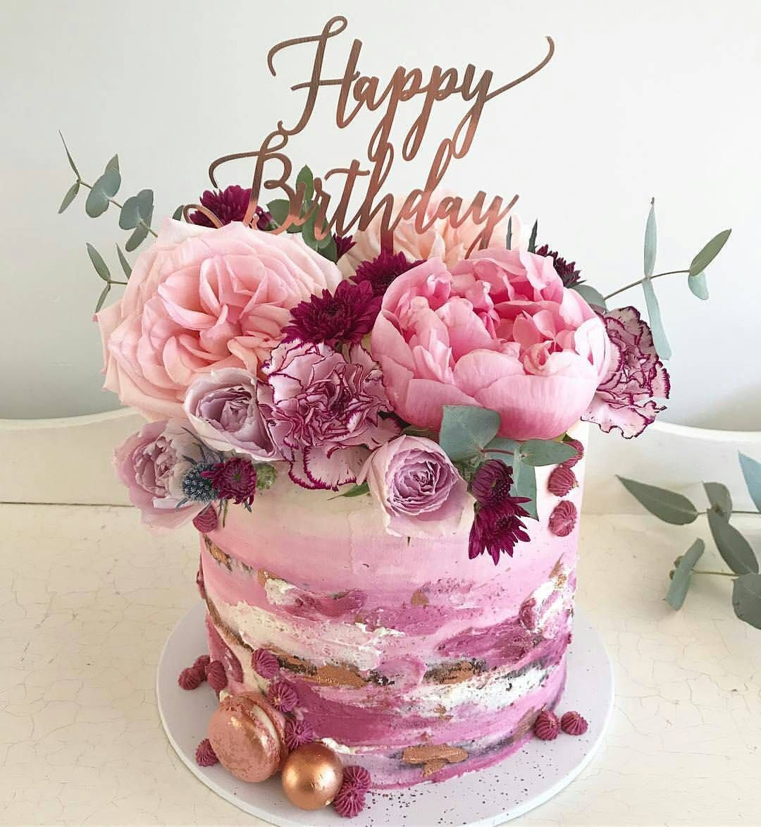 Cake...Fresh Flowers! Birthday cake with flowers