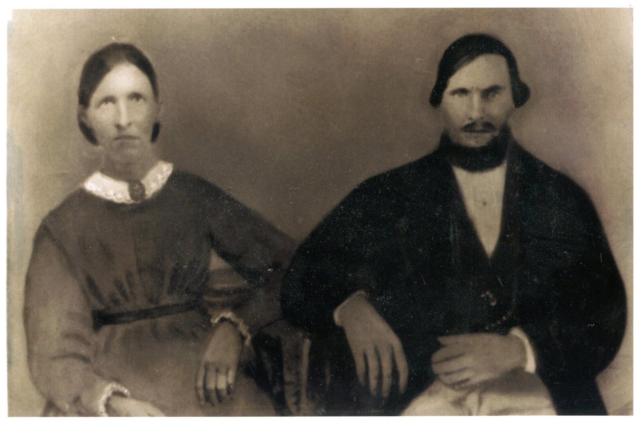 Anne and John Turner in mid 1800's. The Turners filed claim to land in 1855 in the area that would become Umatilla. They were one of only a handful of families living in the wilds.
