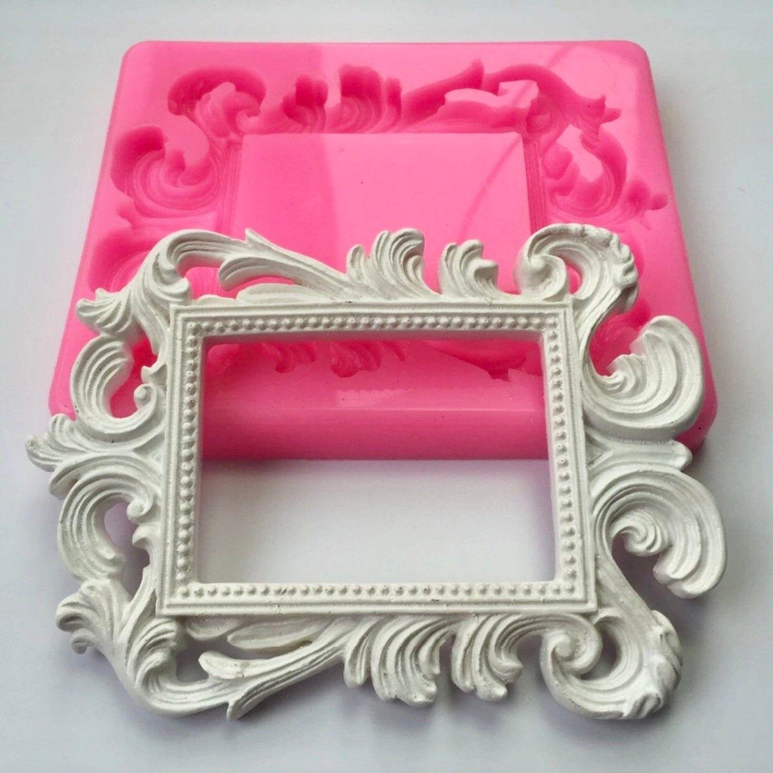 Xl Royal Frame Silicone Mold Extra Large Fondant Mold Etsy Resin Crafts Silicone Molds Royal Frame